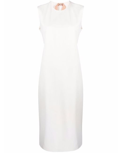 N°21 ノースリーブ ドレス White