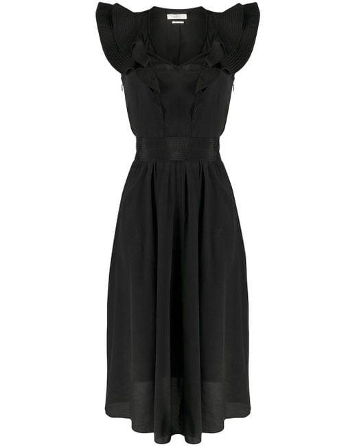 Étoile Isabel Marant ラッフルネック ドレス Black