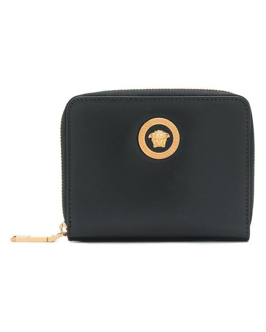 Versace - Black Medusa Zipped Wallet - Lyst