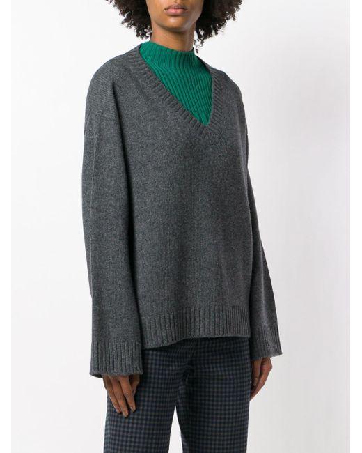 ... Prada - Gray Pullover mit weiten Ärmeln - Lyst ... c43696d376