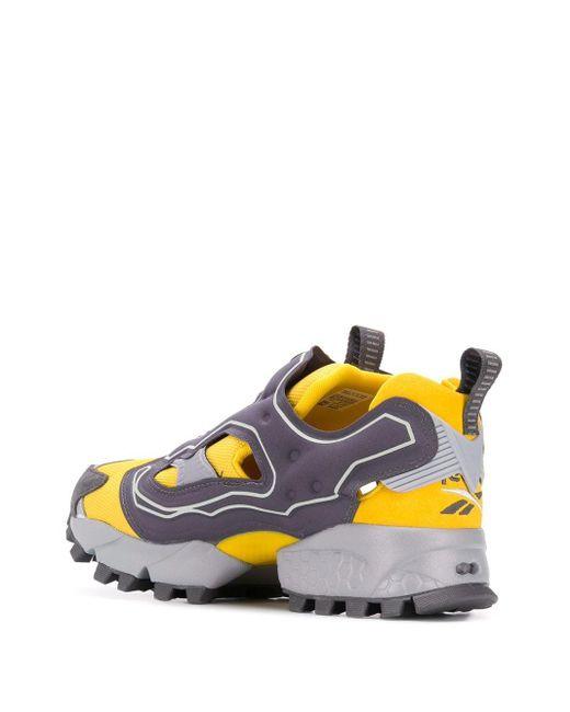 Reebok Yellow Instapump Fury Trail Shroud Sneakers for men
