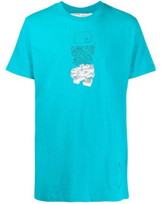 メンズ Off-White c/o Virgil Abloh Dripping Arrows Tシャツ Blue