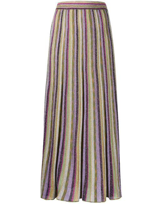 M Missoni メタリックストライプ スカート Purple