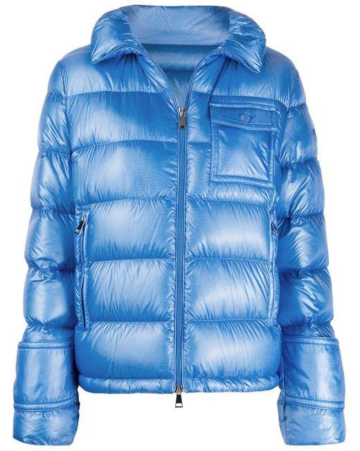 Moncler フーデッド パデッドジャケット Blue