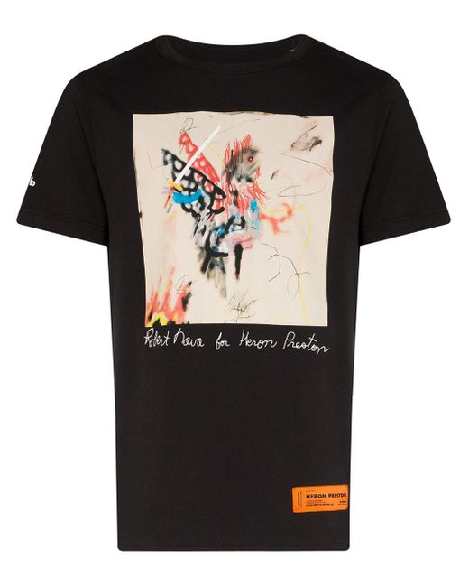 メンズ Heron Preston Robert Nova Tシャツ Black