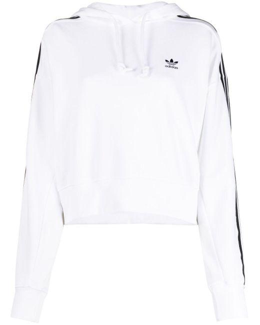 Adidas ロゴ パーカー White