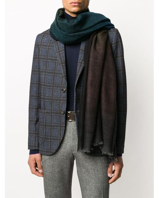 Faliero Sarti グラデーション スカーフ Black