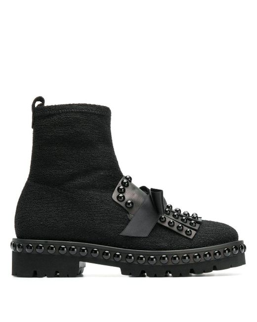 Kennel&Schmenger Round Studded Boots Black