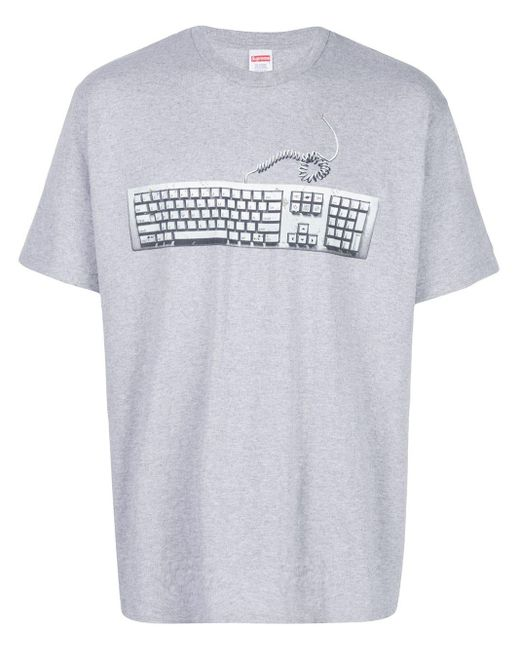 メンズ Supreme Keyboard Tシャツ Gray
