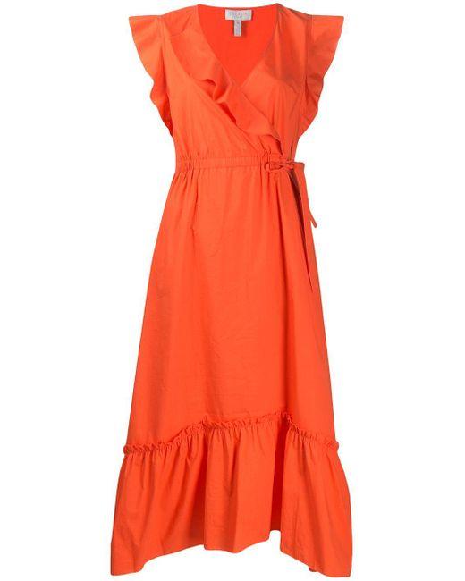 ESCADA ラッフル ドレス Red