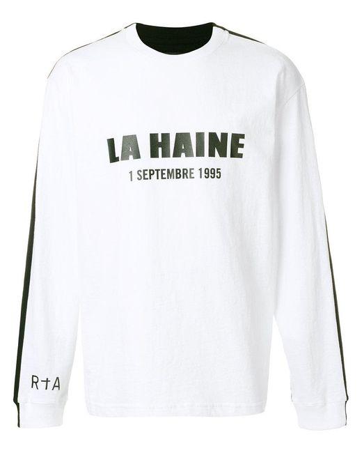 RTA - White La Haine Sweatshirt for Men - Lyst