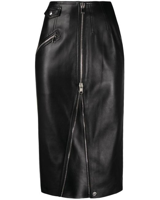 Юбка-карандаш Длины Миди Alexander McQueen, цвет: Black