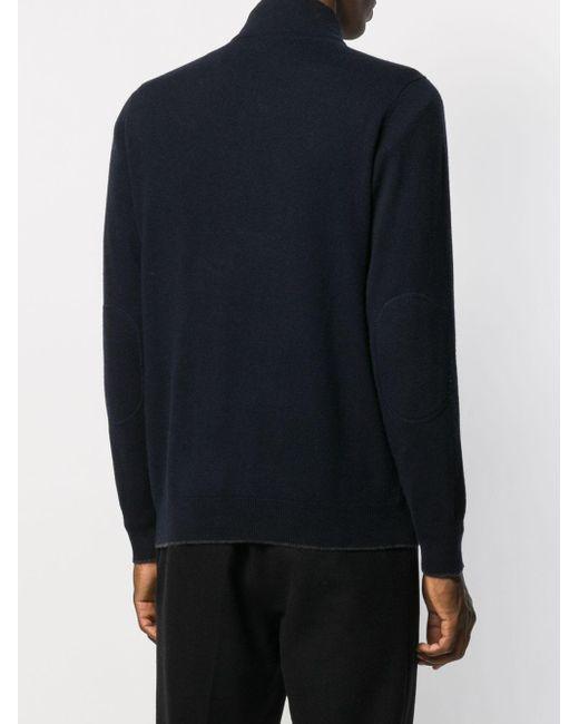 N.Peal Cashmere Kaschmirpullover mit Reißverschluss in Black für Herren