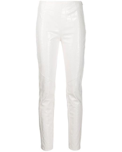 Pinko White Hose mit hohem Bund