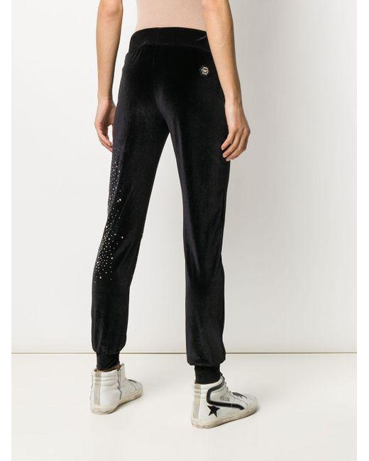 Pantaloni sportivi Plein Star di Philipp Plein in Black