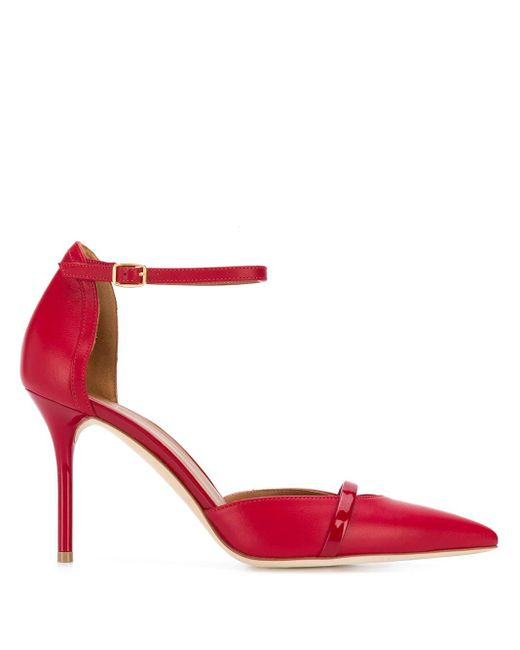 Malone Souliers レザー パンプス Red