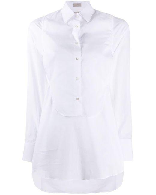 Mrz ロングライン シャツ White