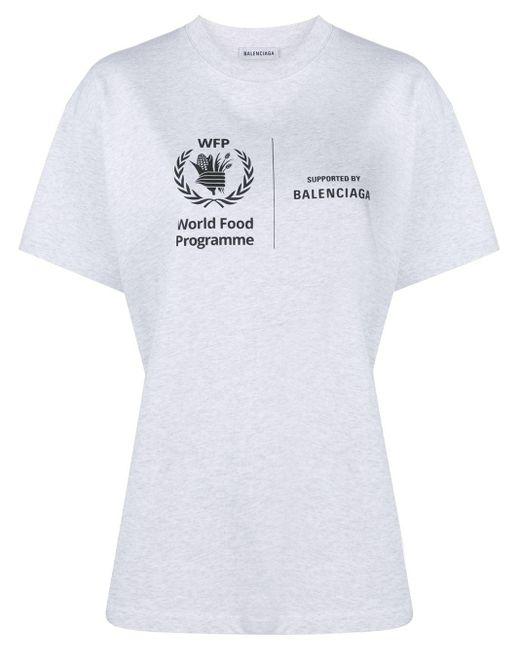 Balenciaga Wfp プリント Tシャツ Gray