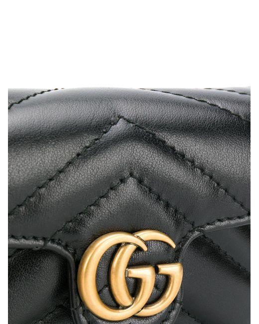 Gucci グッチ〔GGマーモント〕 キルティング ミニバッグ Black