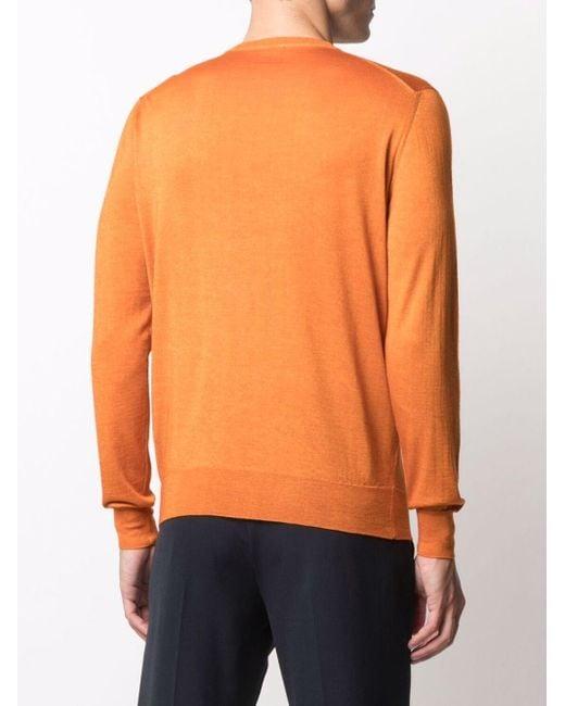 メンズ Drumohr ファインニット セーター Orange