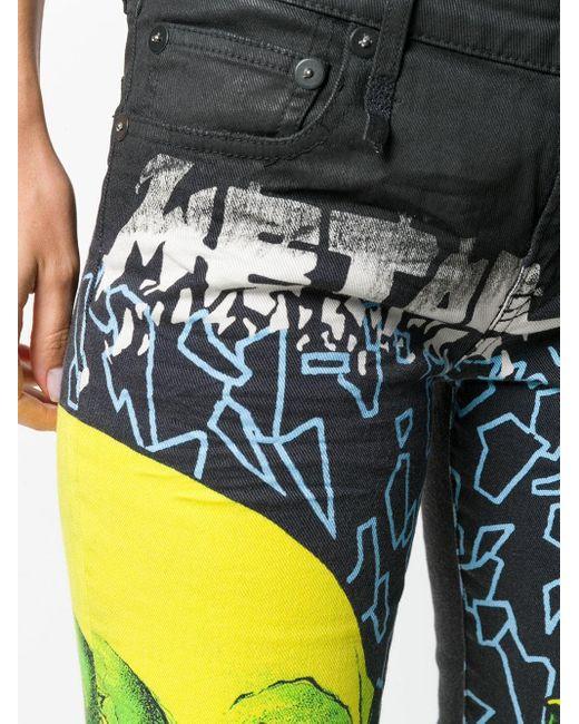 R13 Gray 'Kate' Skinny-Jeans