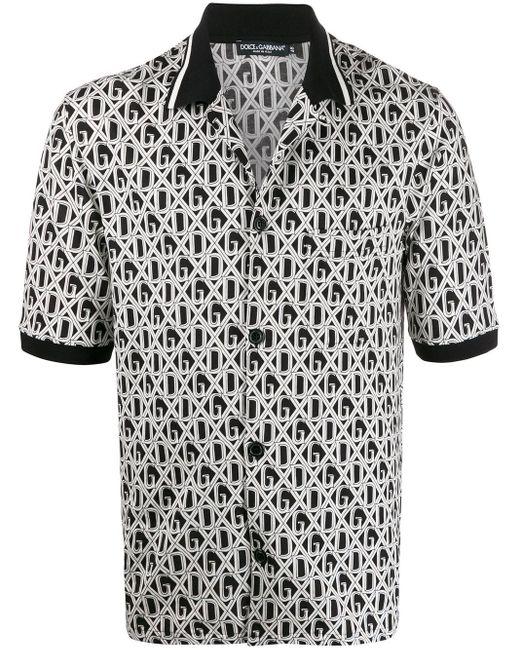 メンズ Dolce & Gabbana Dg プリント ポロシャツ Black