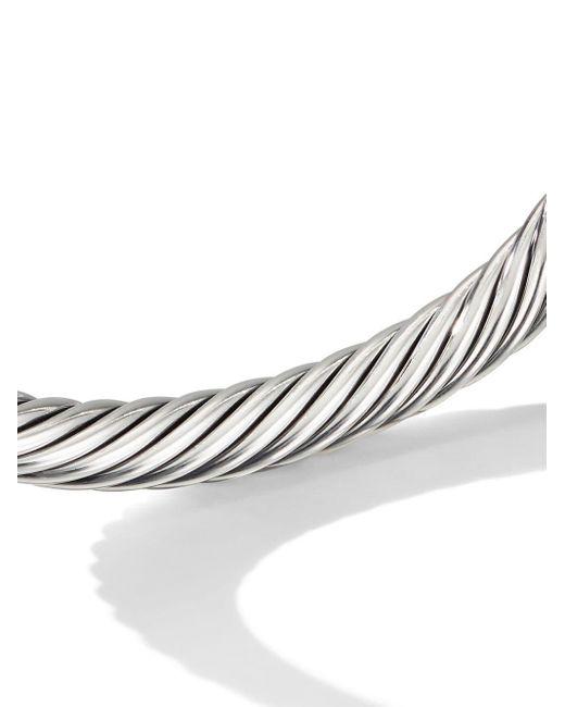 David Yurman Cable パール&ダイヤモンド カフブレスレット スターリングシルバー Multicolor
