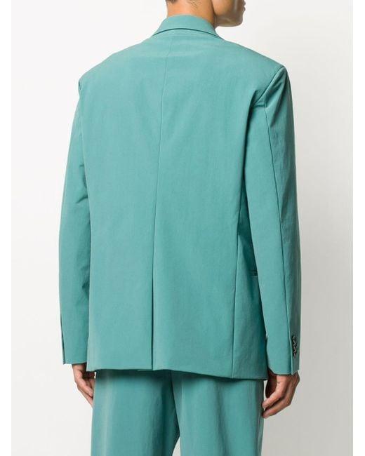 Однобортный Пиджак С Заостренными Лацканами Bottega Veneta для него, цвет: Blue