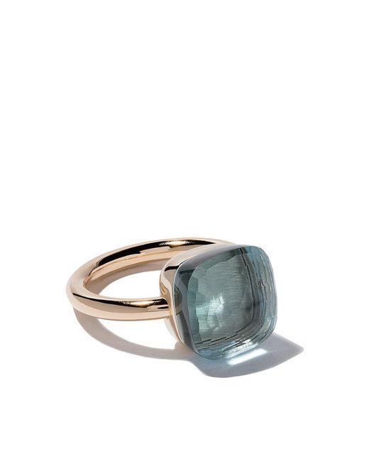 18kt rose & white gold small Nudo topaz & diamond ring - Unavailable POMELLATO RXQlu9EY