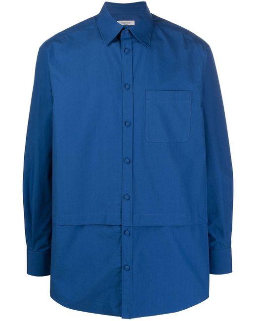 メンズ Valentino レイヤード シャツ Blue