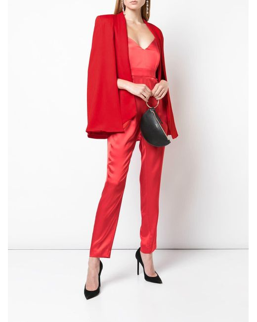Michelle Mason Red Blazer im Cape-Look