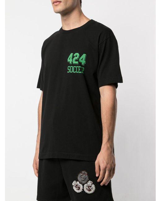 メンズ 424 ロゴ Tシャツ Black