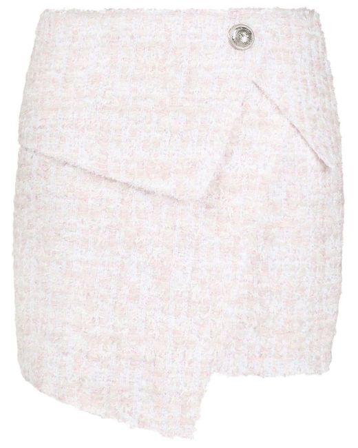 Balmain ブークレ スカート Pink
