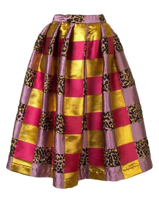 Comme des Garçons カラーブロック スカート Purple