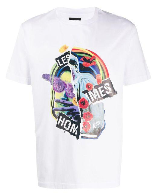 メンズ Les Hommes グラフィック Tシャツ White