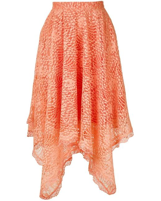 Olympiah Petale レース スカート Orange