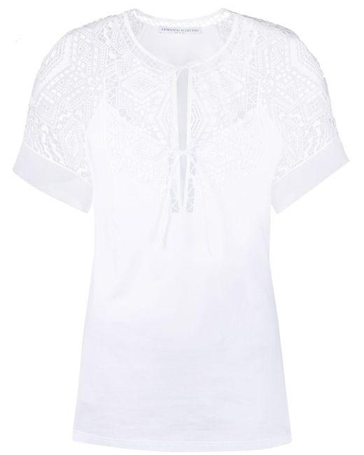 Ermanno Scervino レースパネル Tシャツ White