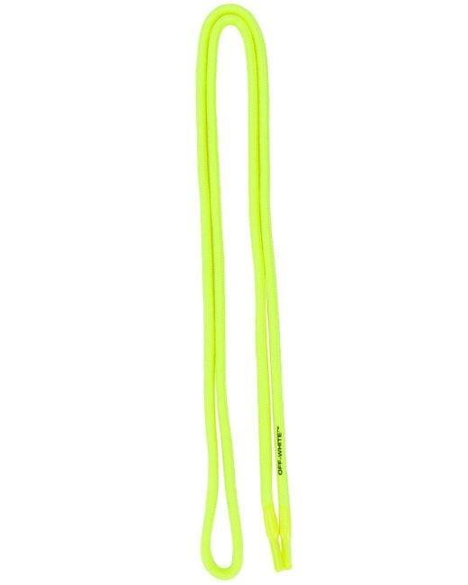 Off-White c/o Virgil Abloh Yellow Rubber Logo Shoelaces for men