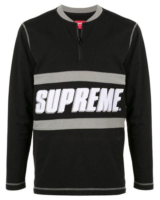 メンズ Supreme Bar Half Zip Top Black