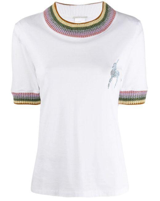 Marco De Vincenzo Camiseta con cuello redondo de mujer de color blanco YFyEa