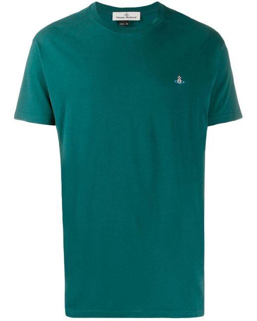 メンズ Vivienne Westwood ロゴエンブロイダリー Tシャツ Green