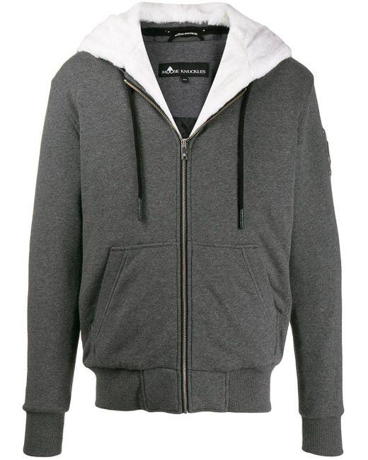 Moose Knuckles Jacke mit Faux Fur in Gray für Herren