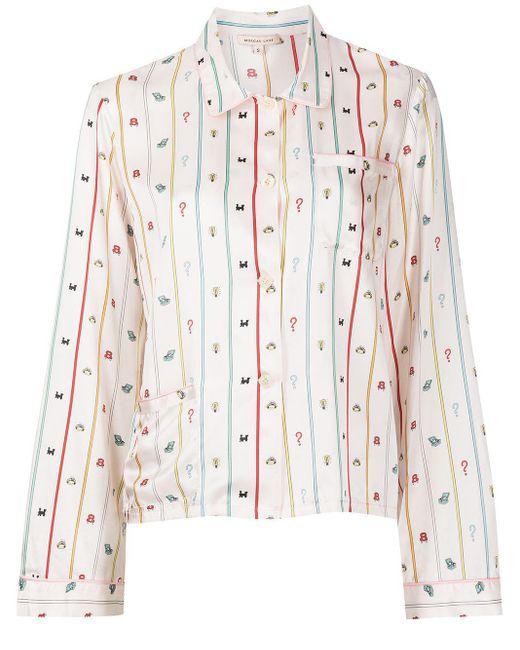Morgan Lane Pink Ruthie Monopoly Stripe-print Shirt