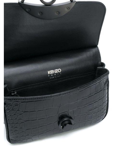 KENZO Black Handtasche mit Prägung