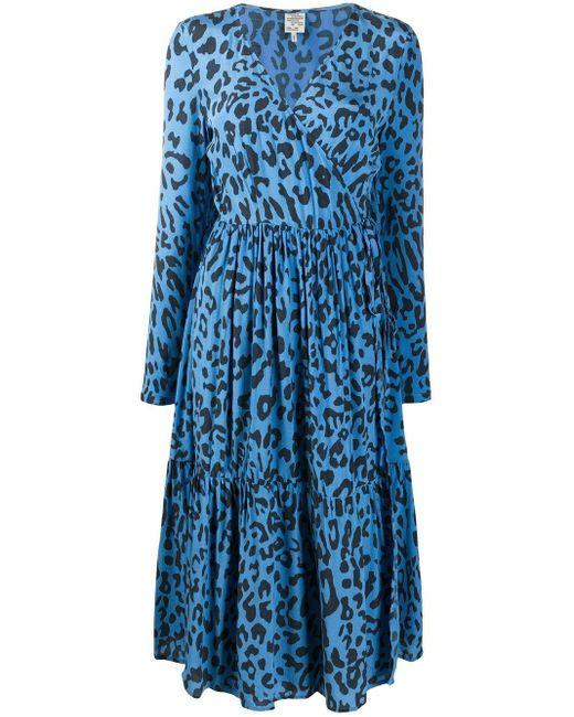 Baum und Pferdgarten アニマルプリント ドレス Blue