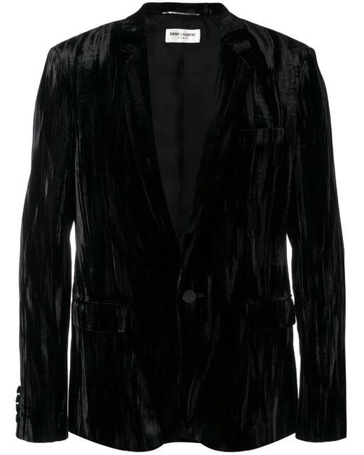 メンズ Saint Laurent テーラード ジャケット Black