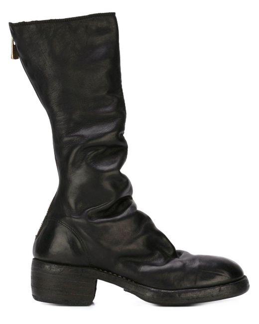 Guidi ジップアップ ブーツ Black
