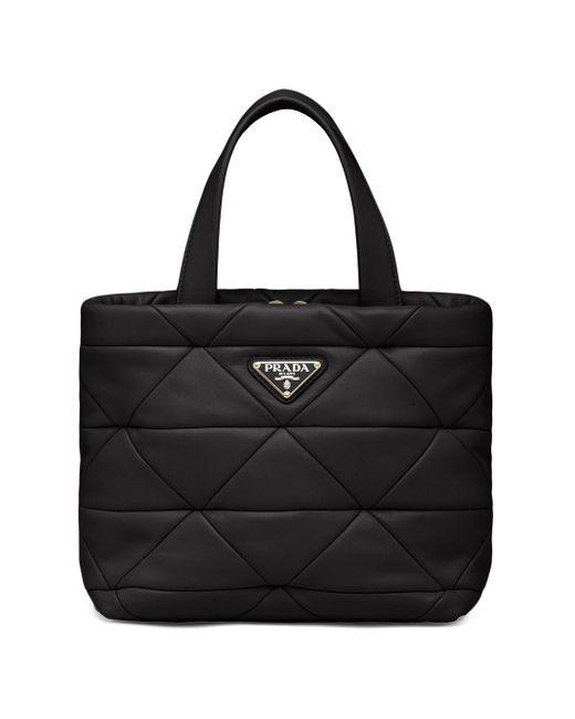 Prada Black System Quilted Tote Bag