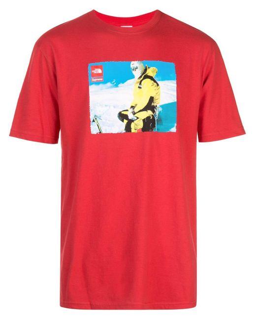 メンズ Supreme X The North Face Tシャツ Red