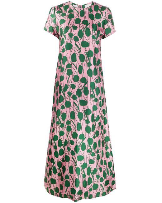 LaDoubleJ Swing ボタニカル ドレス Pink